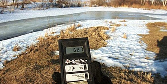 измерение уровня радиации на земельных участках